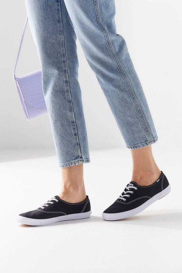 модные женские кеды 2019-2020: джинсовые