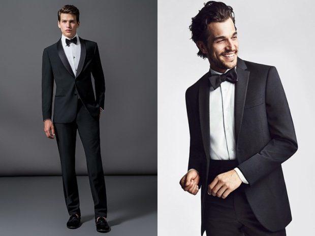 черный костюм классика