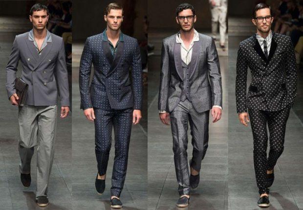 классические костюмы серые синий в полоску серый тройка черный в горошек