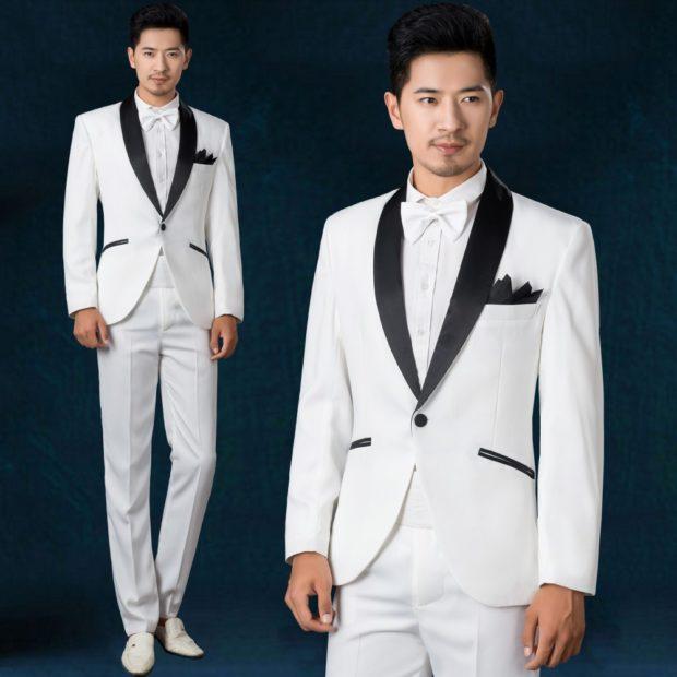 костюм белый в обтяжку