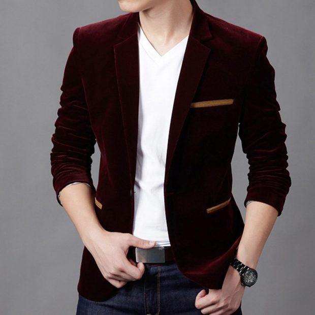 бархатный пиджак бордовый синие штаны