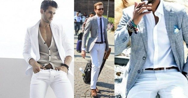 летние костюмы белый серый пиджак белые штаны серый пиджак в клетку белые штаны