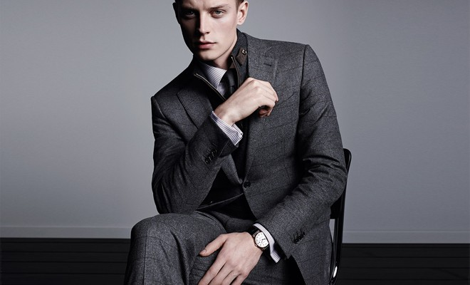 костюм серый классика