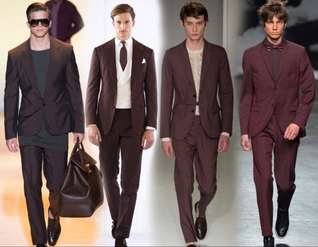 коричневые костюмы классические