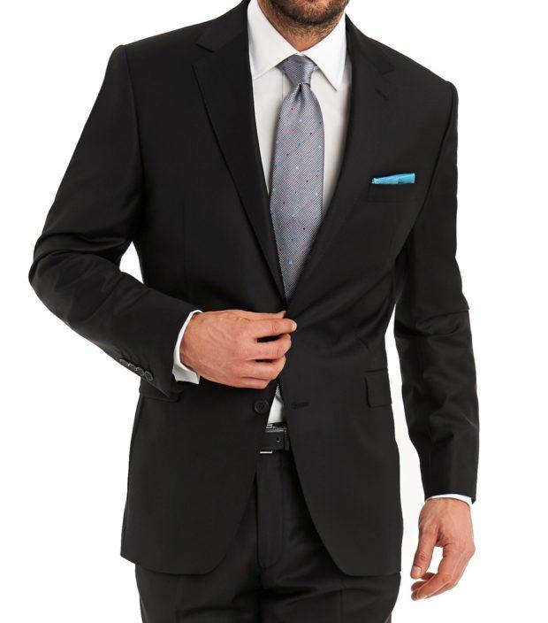 костюм на выпускной для парня 2018-2019: черный серый галстук