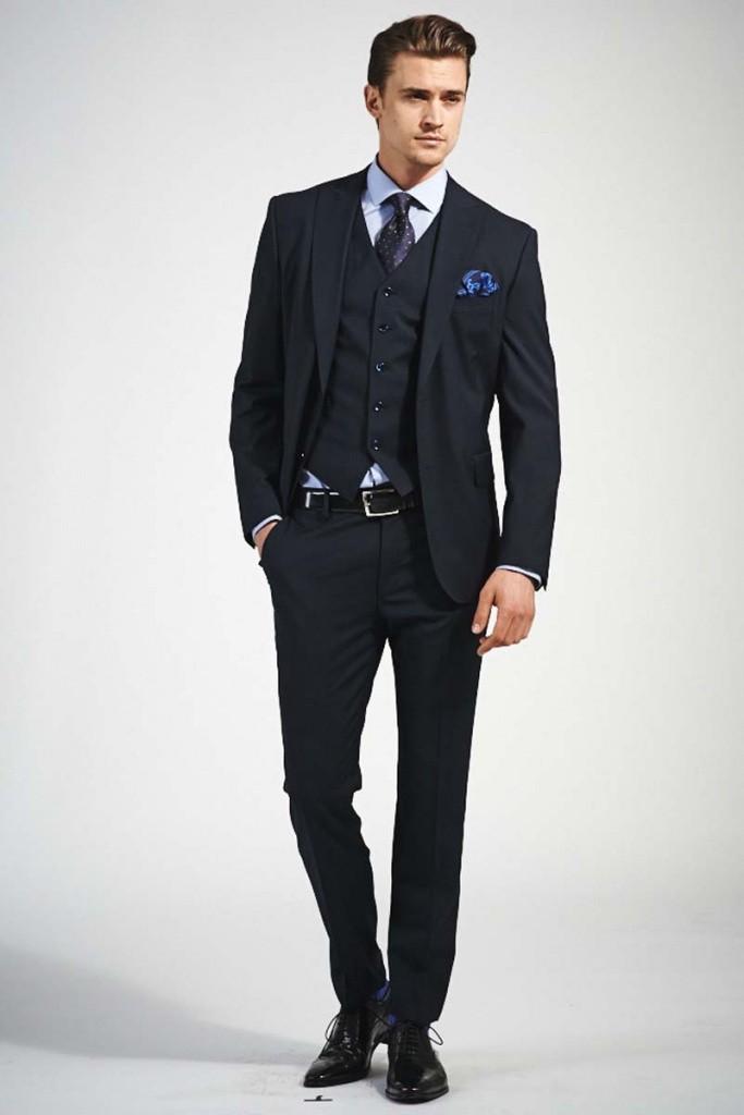 костюм черный тройка классика