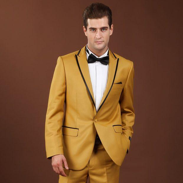 костюм желтый классика