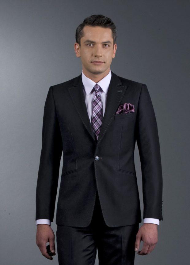 костюм на выпускной для парня 2018-2019: классический черный