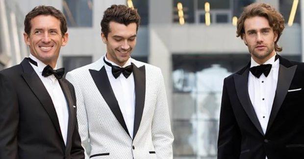 костюм на выпускной для парня 2018-2019: черный белый классика под бабочку