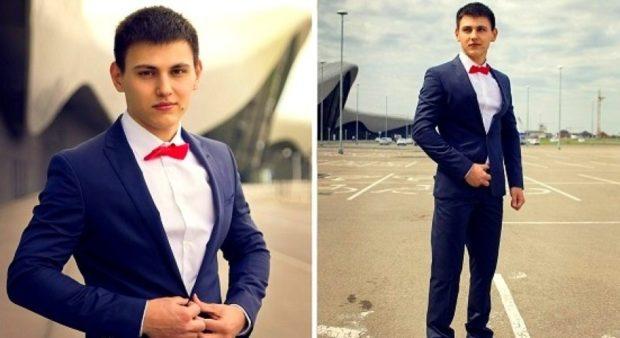 костюм на выпускной для парня 2018-2019: темно-синий классический