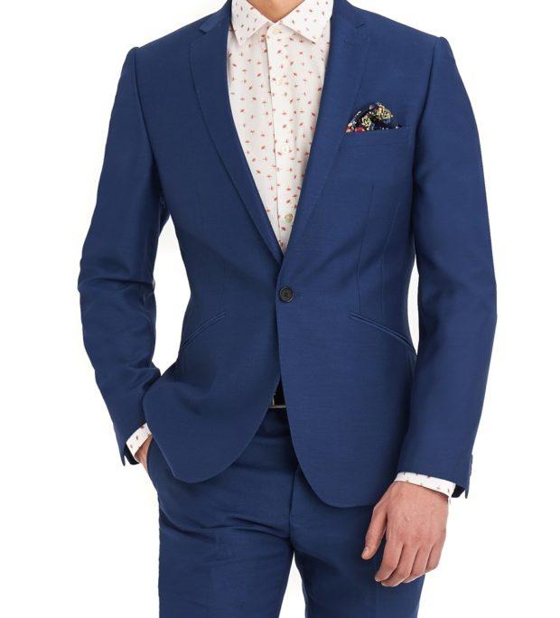 костюм на выпускной для парня 2018-2019: синий классика белая рубашка