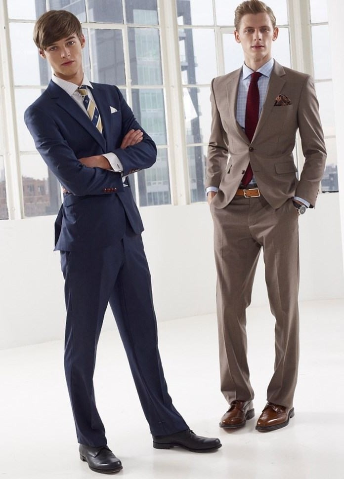 синий классический костюм коричневый костюм классика