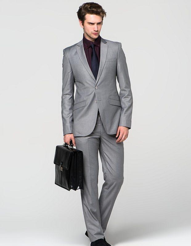 костюм на выпускной для парня 2018-2019: серый классический