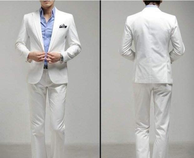 костюм белый классика