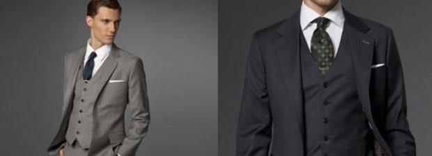 костюм на выпускной для парня 2018-2019: тройка серый в полоску