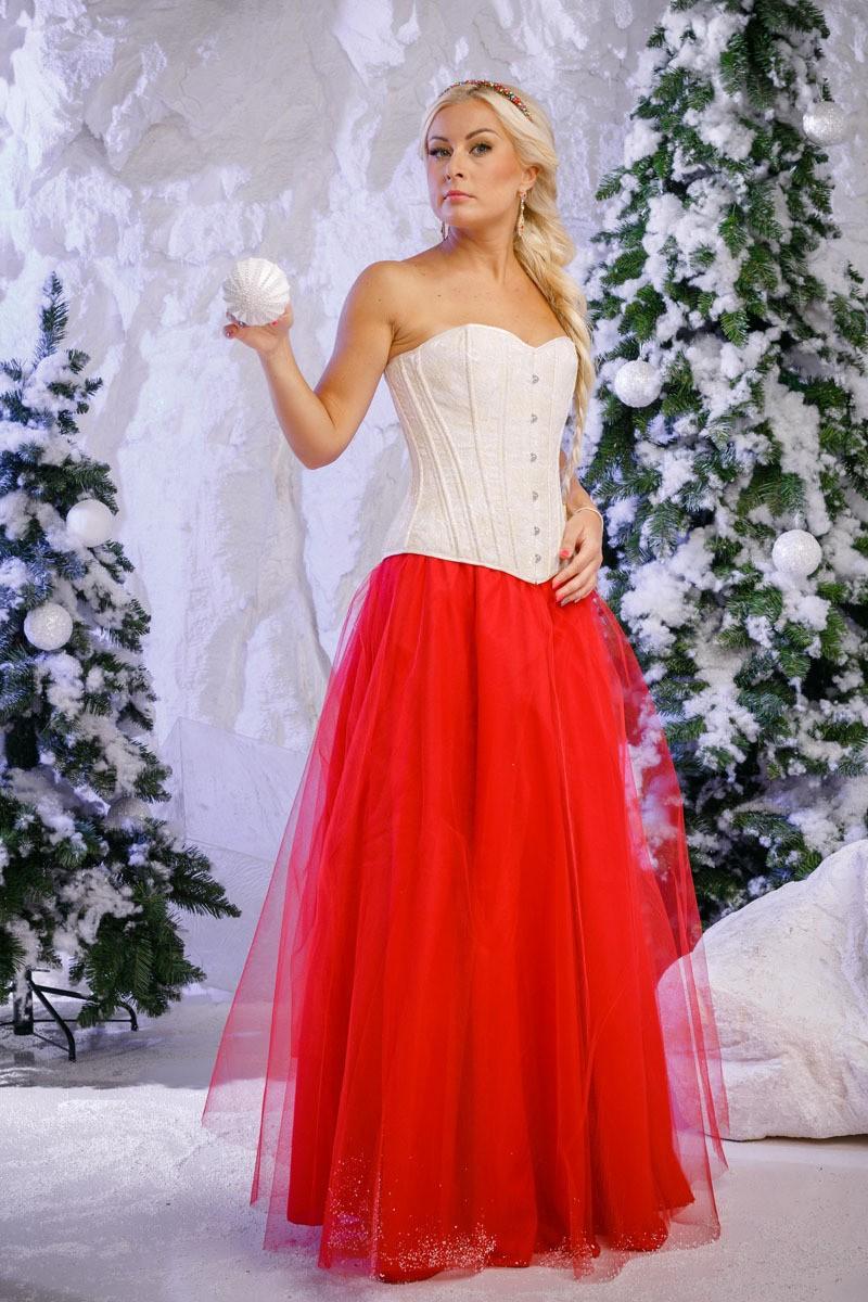 Красная юбка с чем носить: пачка под корсет белый
