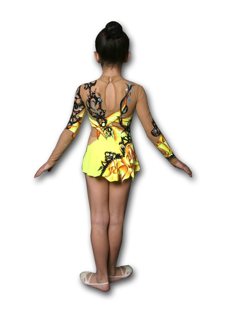 купальник желтый с черными разводами с длинным рукавом
