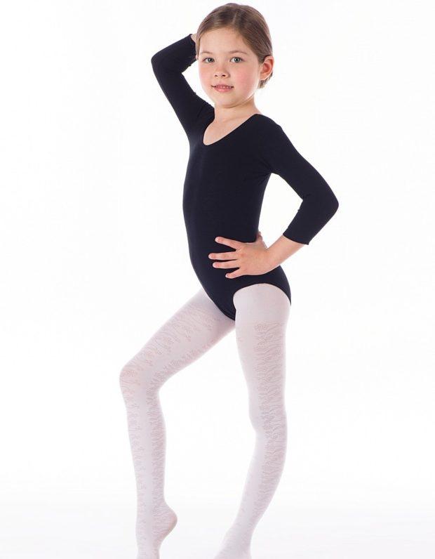 купальники для художественной гимнастики для выступлений: черный рукав длинный