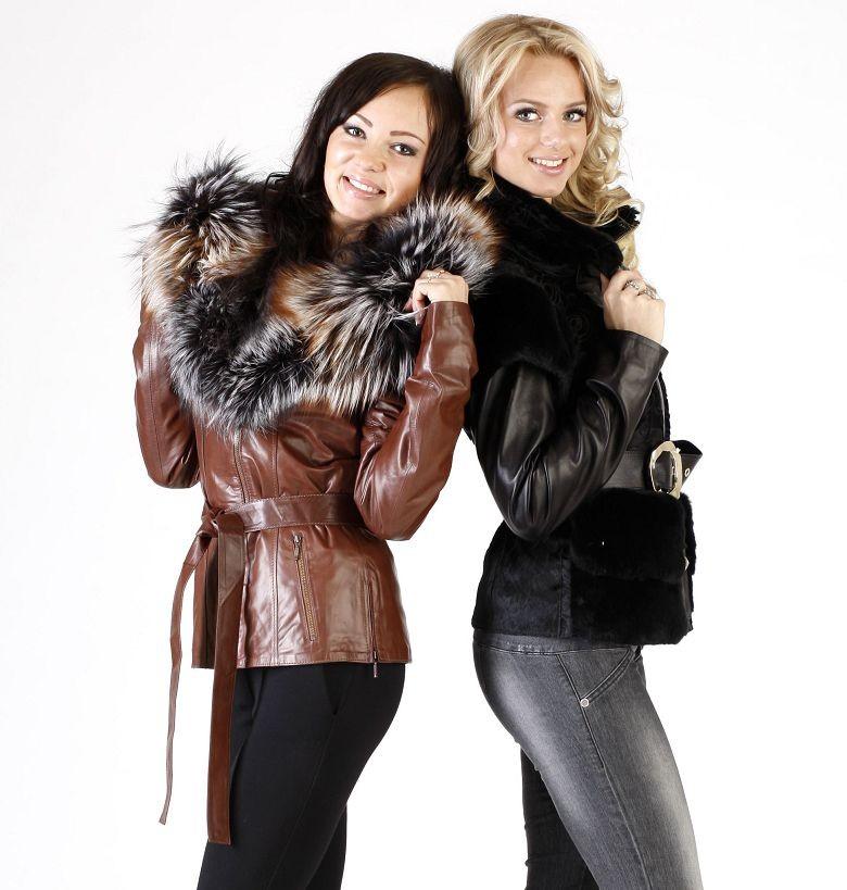 кожаная короткая куртка с мехом коричневая черная с мехом