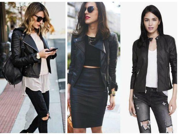 Куртки 2018 2019: кожаные короткие