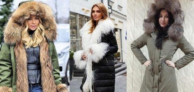 Модные куртки 2018 2019: пуховики с мехом длинные