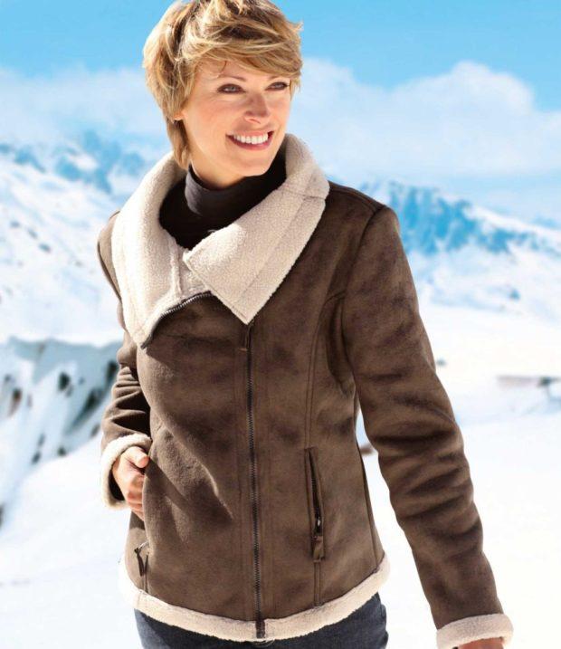 Модные куртки 2018-2019: дубленка короткая