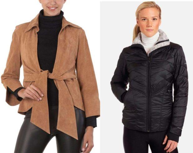 Модные куртки 2018 2019: дубленка с пояском