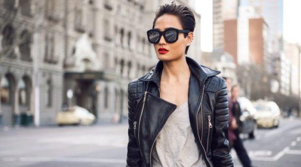 Модные куртки 2018 2019: косуха кожаная