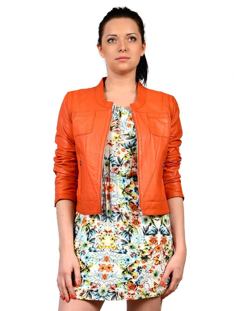 Модные куртки 2018 2019: косуха оранжевая