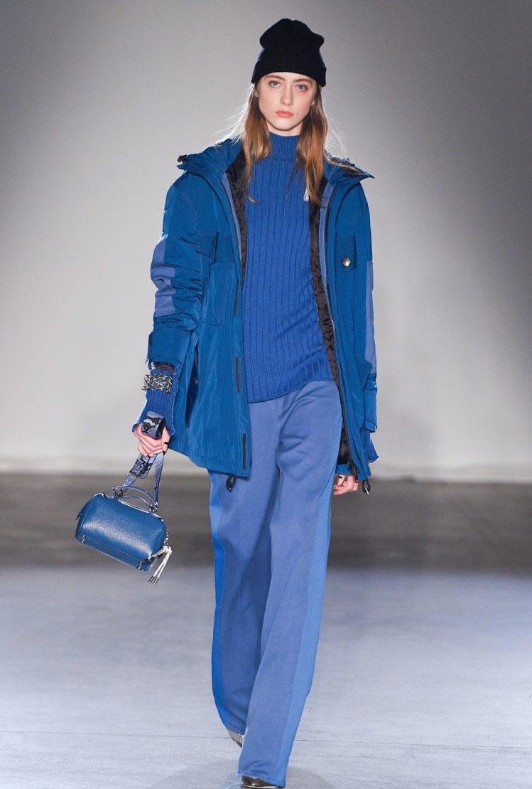 синяя куртка осень
