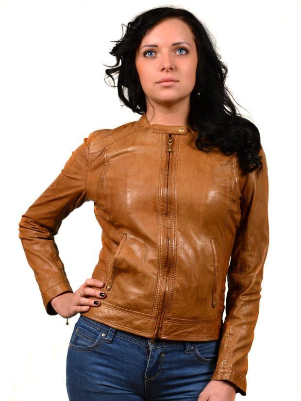 Модные куртки 2018-2019: косуха коричневая