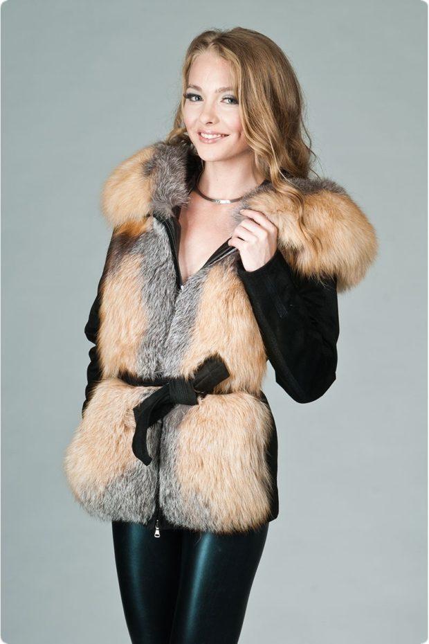 замшевая куртка с меховым жилетом