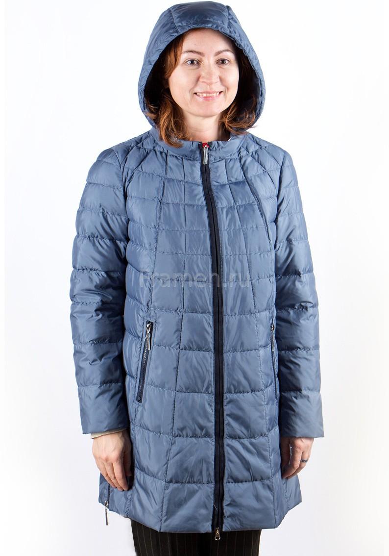 стеганая куртка синяя с капюшоном