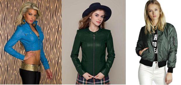 синяя куртка короткая зеленая косуха осеняя плащевка