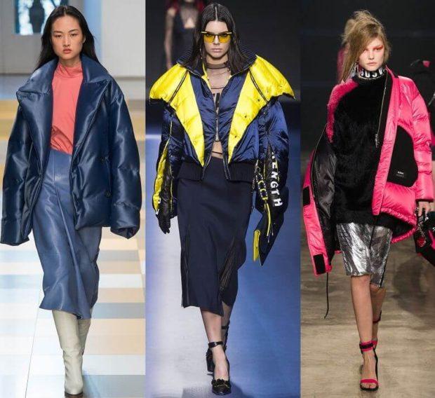 Куртки 2018 2019: оверсайз синяя