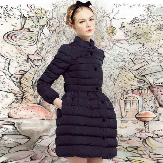 Модные куртки 2018 2019: приталенная черная стеганая