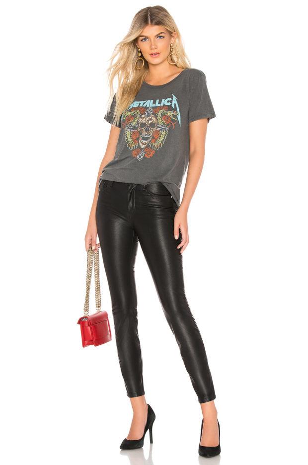 кожаные джинсы с чем носить