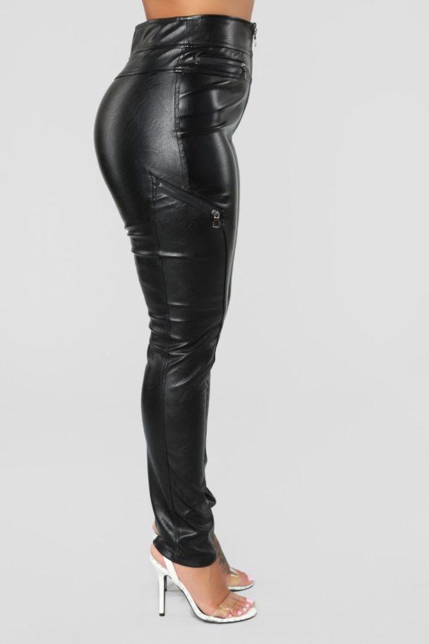 кожаные джинсы 2018-2019