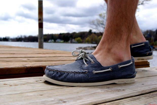 синие мокасины мужские со шнуровкой