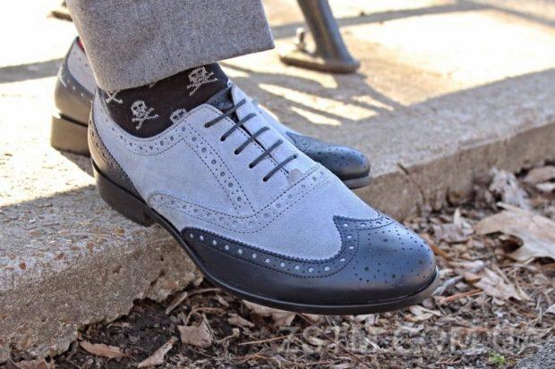 летние туфли двух цветные с узором