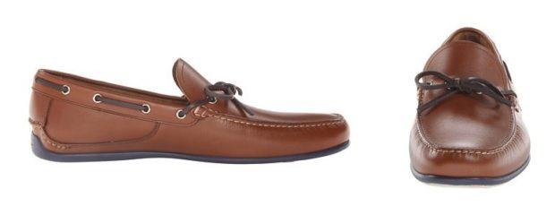 Driving Shoes коричневые на шнурке