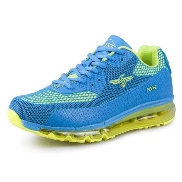 кроссовки голубые на желтой подошве