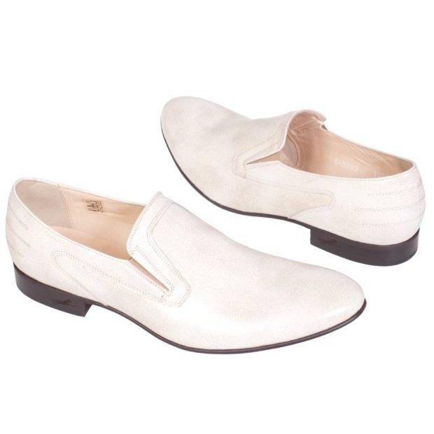 классические туфли летние белые