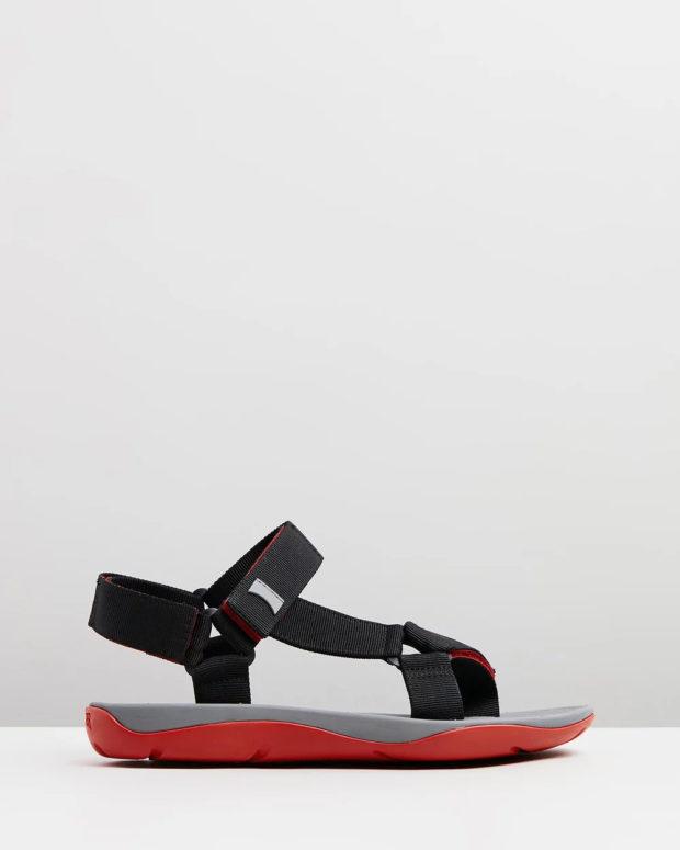 спортивные сандали мужские с красной подошвой