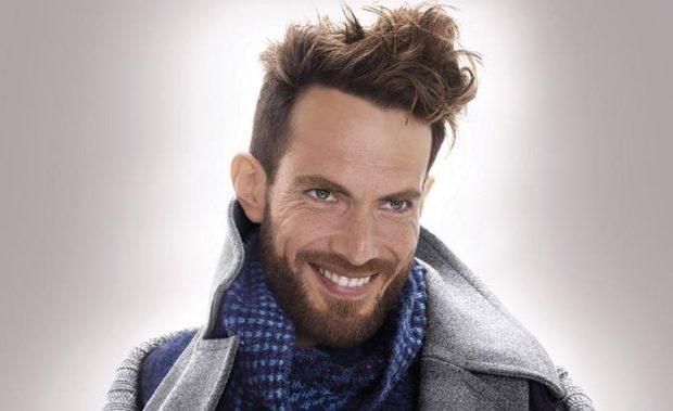 густая бородка с усиками