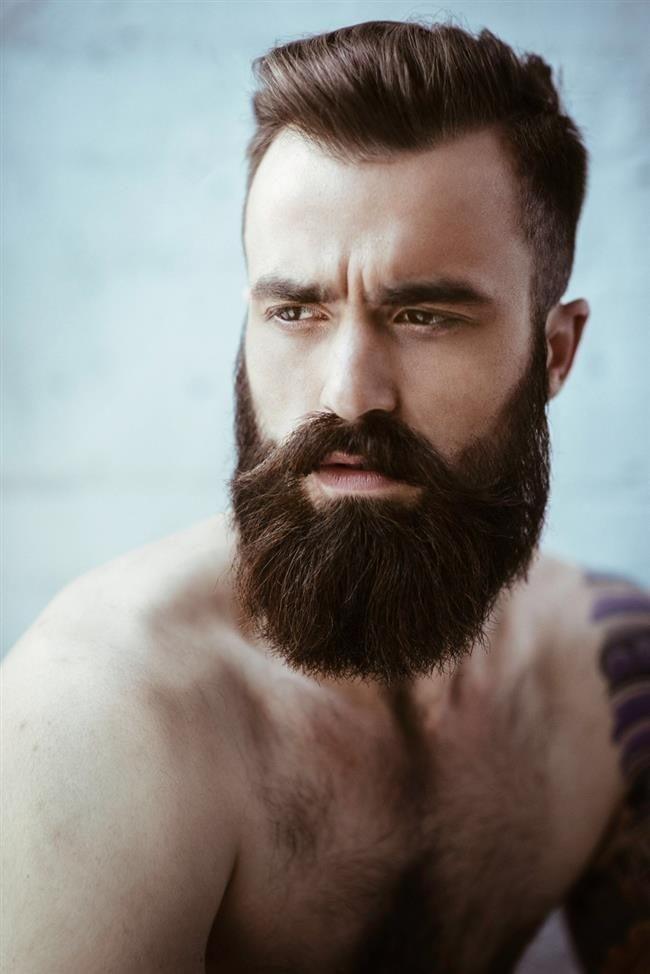 густая борода с усами от виска