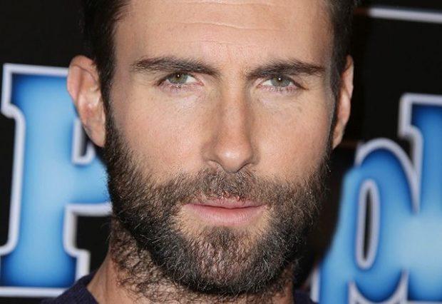 голливудская борода с щетиной на шее