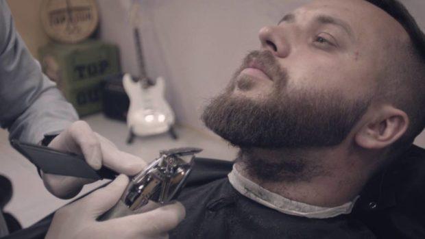 стрижка бороды густой