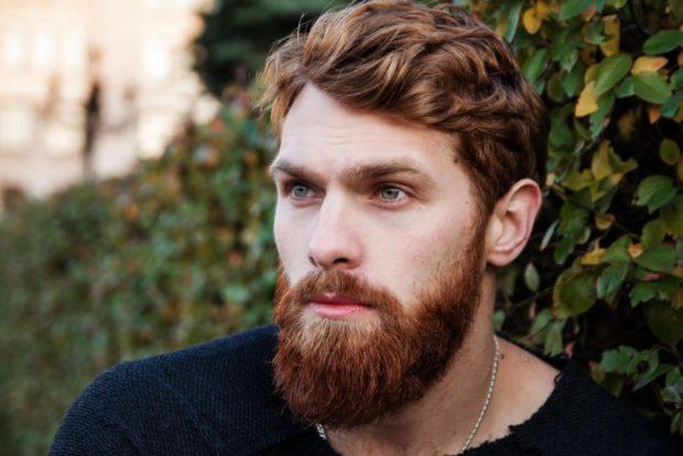 борода небольшая с усами