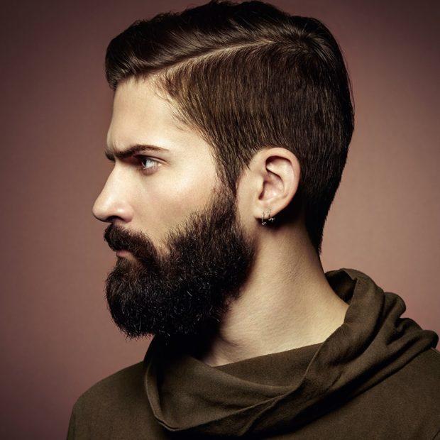 фигурная борода с усами